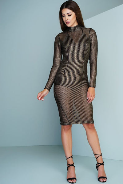 Anya Shimmering Dress - Gold