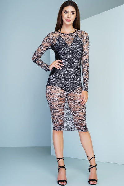 Bea Lace Dress - Cheetah
