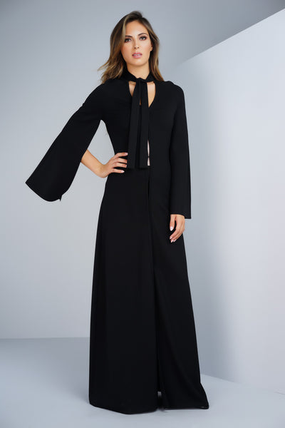 Chloe Cape Coat/Dress in Black