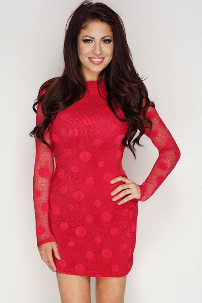 Ellie Polka Dot Mini Dress - Red