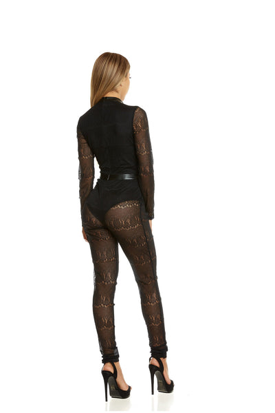 Love Yourself Lace Jumpsuit- Black Lace