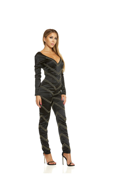 Chevron Gold Jumpsuit