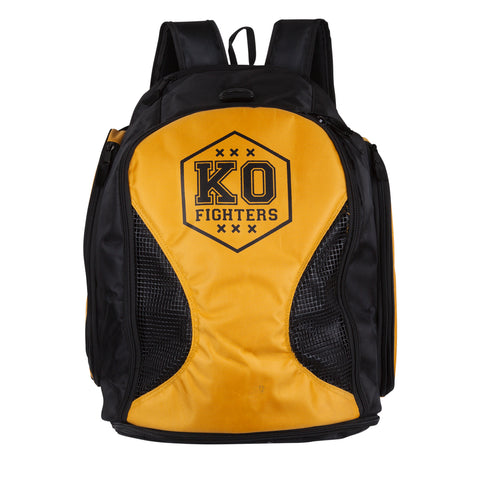 Backpack KO Fighters (Black/Yellow)