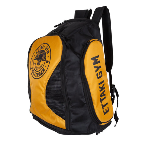 Backpack Ettaki Gym (Black/Yellow)