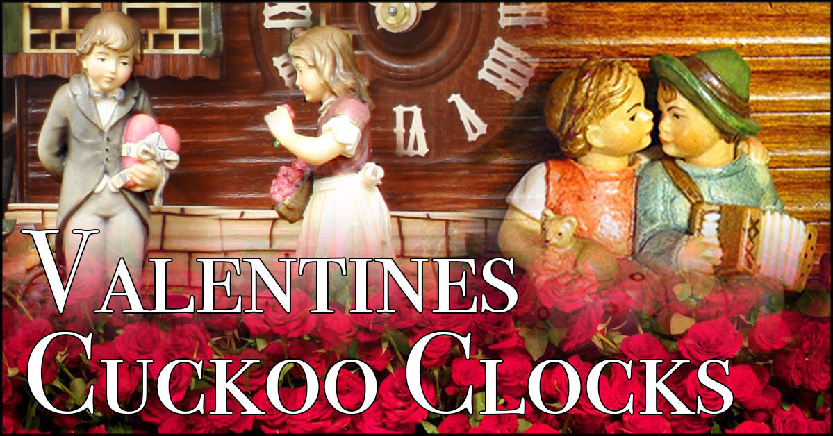 Valentines Day Themed Cuckoo Clocks