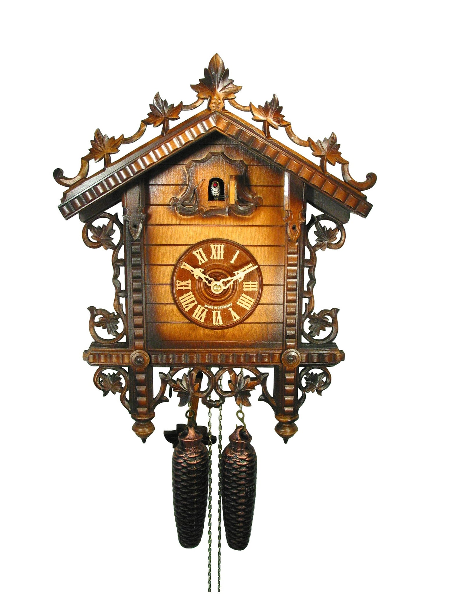 Carved 8-day train station cuckoo clock 43cm by August Schwer - Cuckoo  Collections
