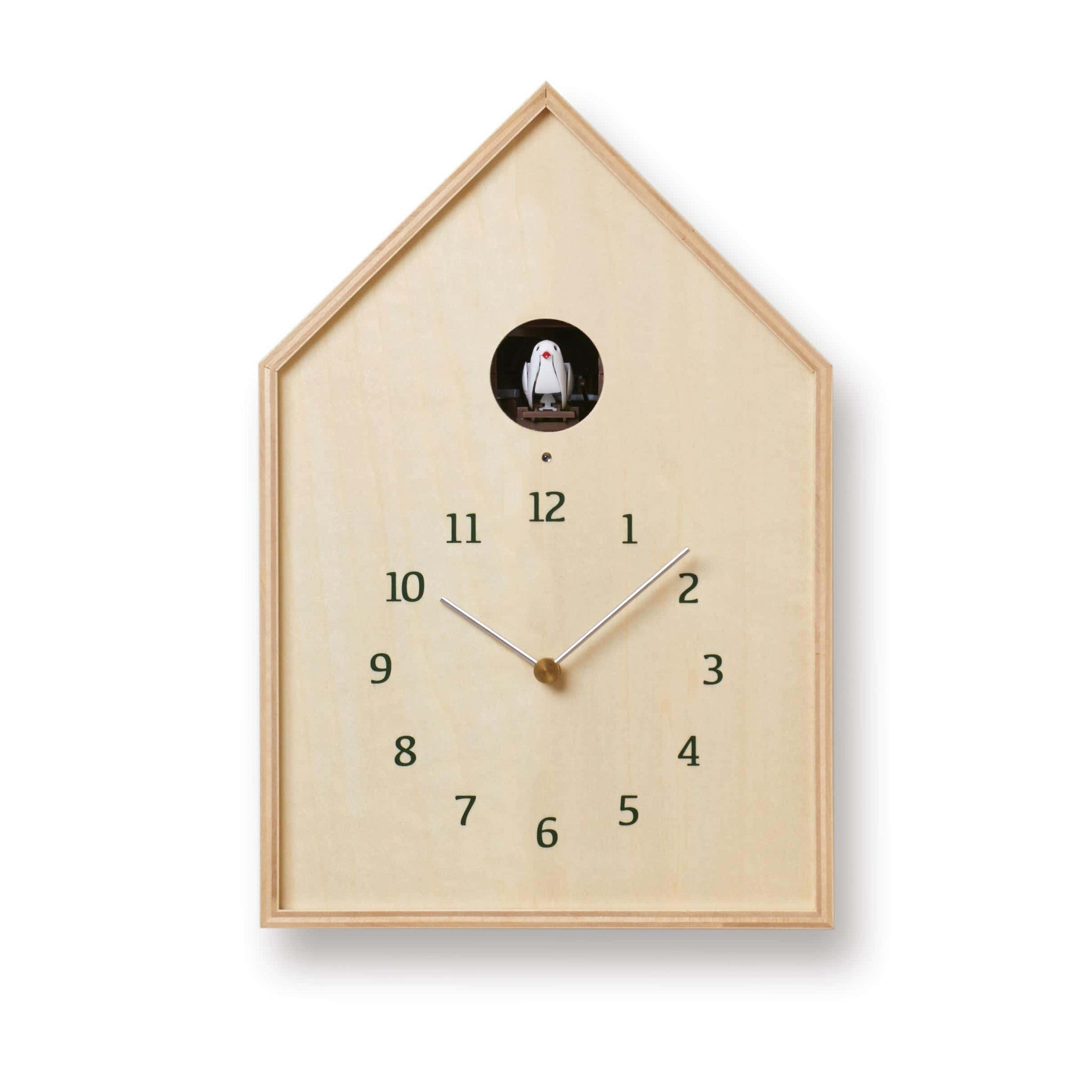 39 birdhouse 39 table wall cuckoo clock white by lemnos cuckoo collections - Cuckoo pendulum wall clock ...