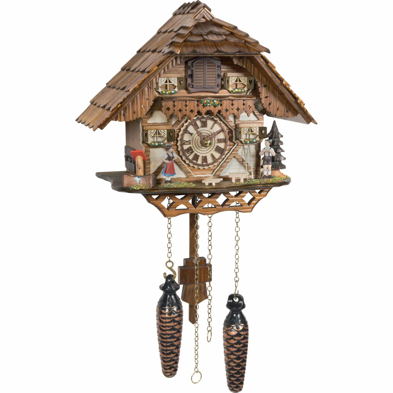 chalet quartz cuckoo clock black forest house with music by trenkle uhren
