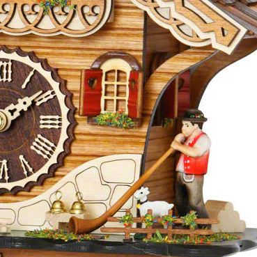 Chalet Style Quartz Cuckoo Clock Swiss House With Music 27 Cm By Trenkle Uhren