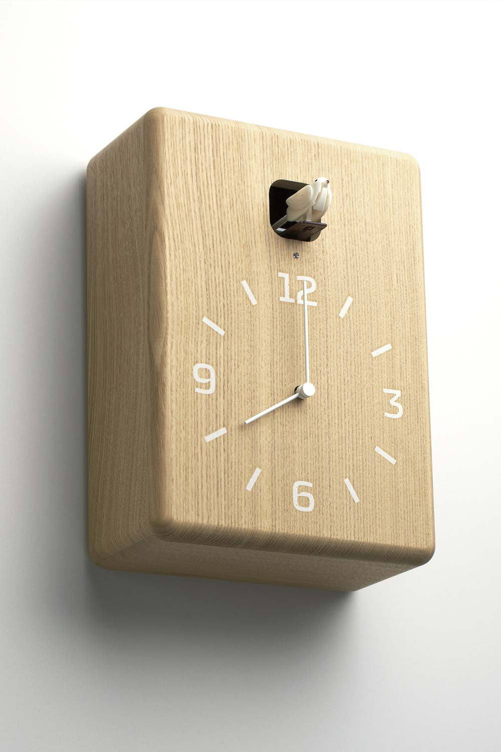 Cucu Wall Clock Natural Wood By Lemnos Cuckoo Collections