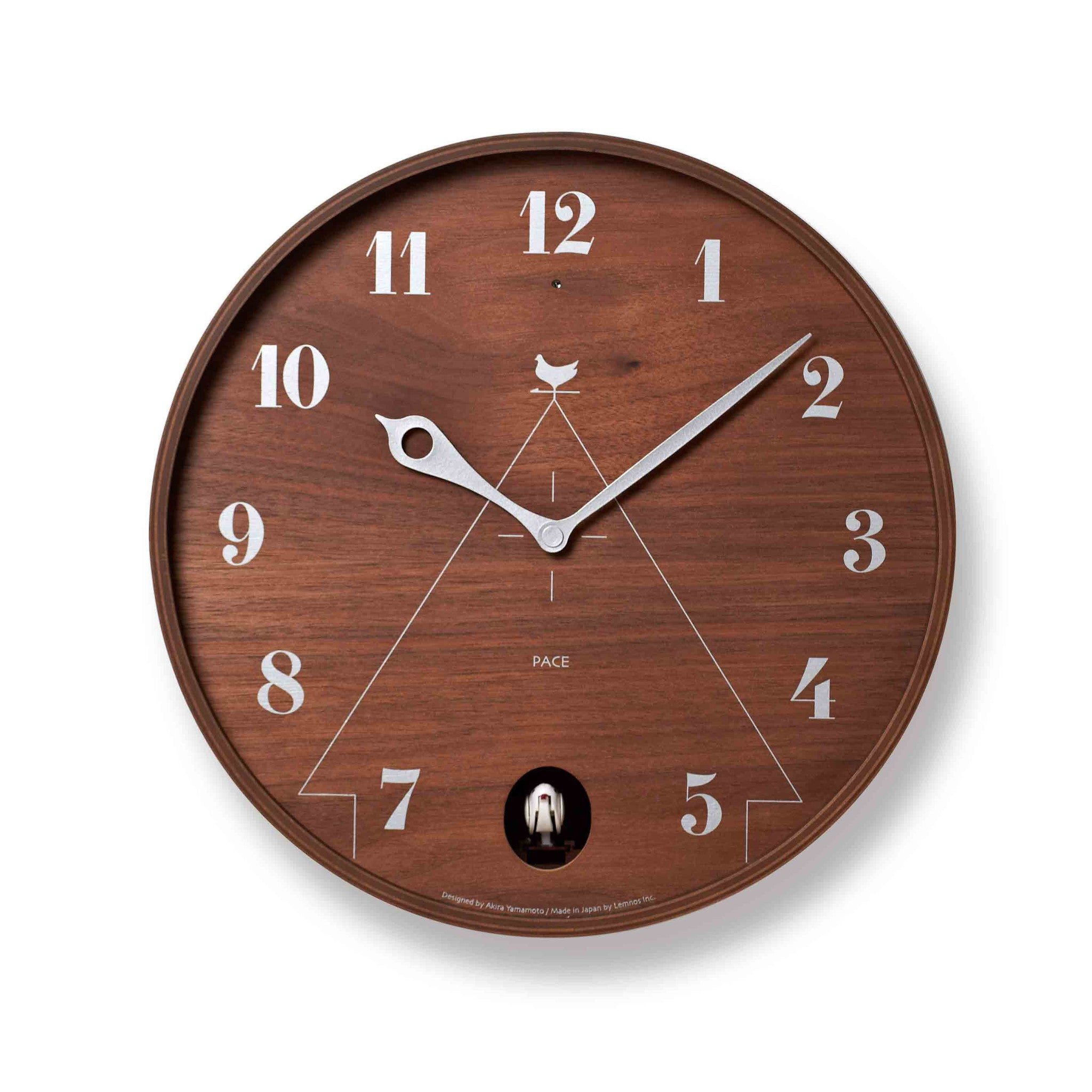 Pace wall clock 305cm natural wood by lemnos cuckoo collections cuckoo clock pace wall clock 305cm dark wood by lemnos amipublicfo Image collections