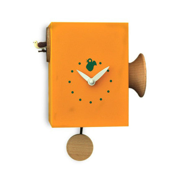 Cuckoo Clock   U0027Cucu Trombettinou0027 Cuckoo Clock (Orange) By Pirondini    Cuckoo