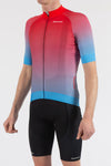 Fade Blue/Red Short Sleeve Jersey - Lusso Cycle Wear
