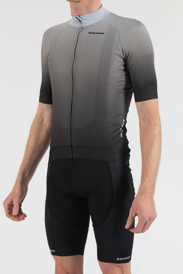 Fade Grey/Black Short Sleeve Jersey - Lusso Cycle Wear