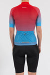 Fade Blue/Red Short Sleeve Jersey - Womens - Lusso Cycle Wear