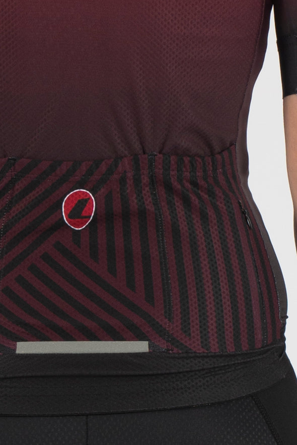 Fade Plum/Black Short Sleeve Jersey - Womens - Lusso Cycle Wear