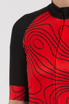 Terrain Red Short Sleeve Jersey - Womens - Lusso Cycle Wear