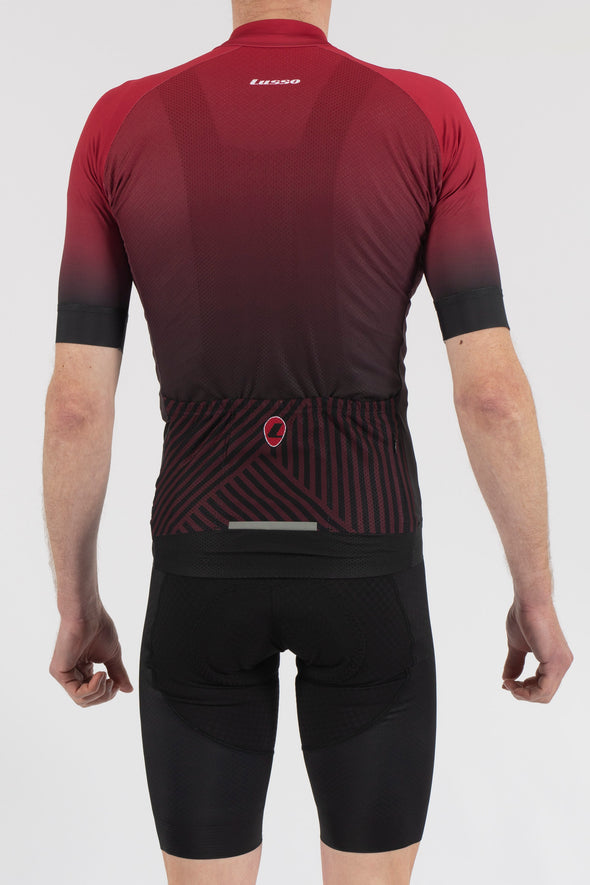 Fade Plum/Black Short Sleeve Jersey - Lusso Cycle Wear