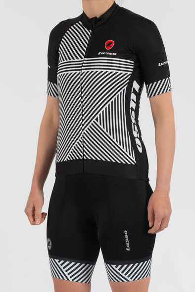 Stripes Short Sleeve Jersey - Womens - Lusso Cycle Wear