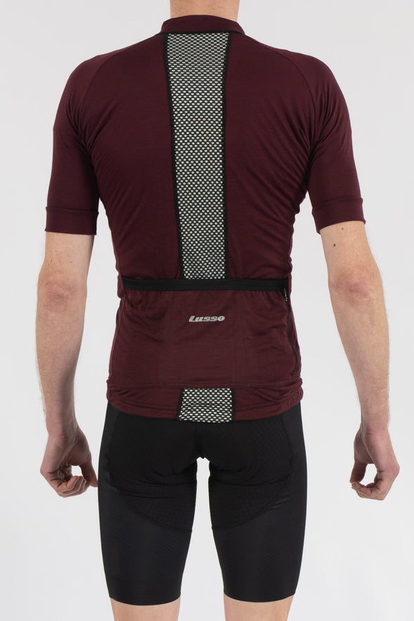 Merino Plum Short Sleeve Jersey - Lusso Cycle Wear