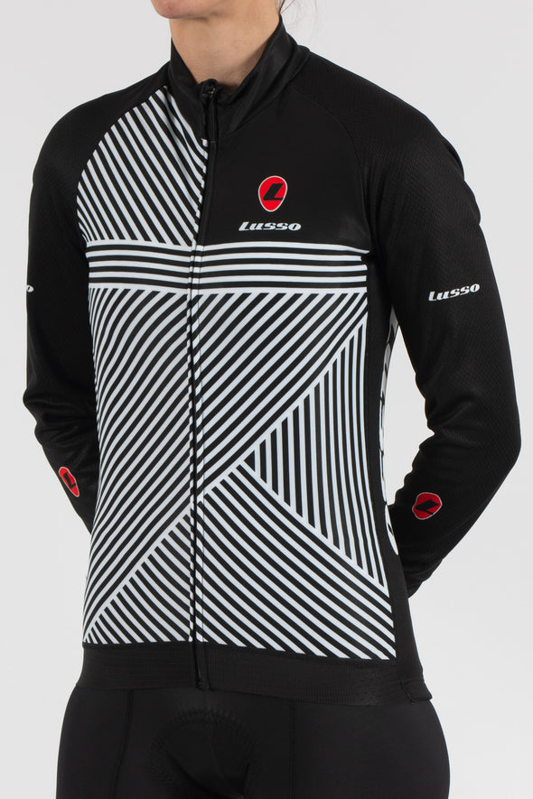 Stripes Long Sleeve Jersey - Womens - Lusso Cycle Wear