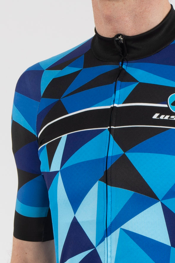 Shattered Blue Short Sleeve Jersey - Lusso Cycle Wear