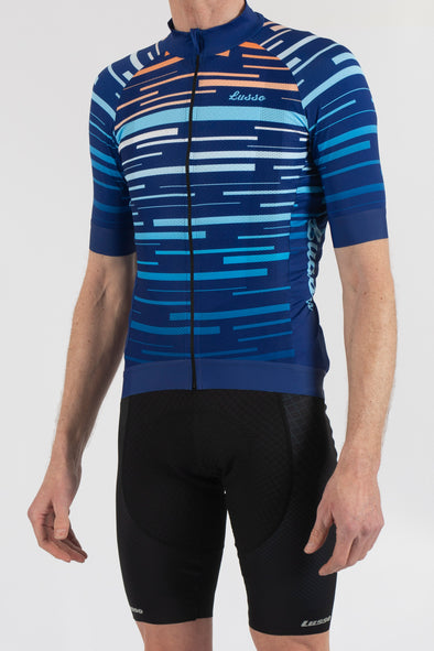 Dash Blue Short Sleeve Jersey - Lusso Cycle Wear