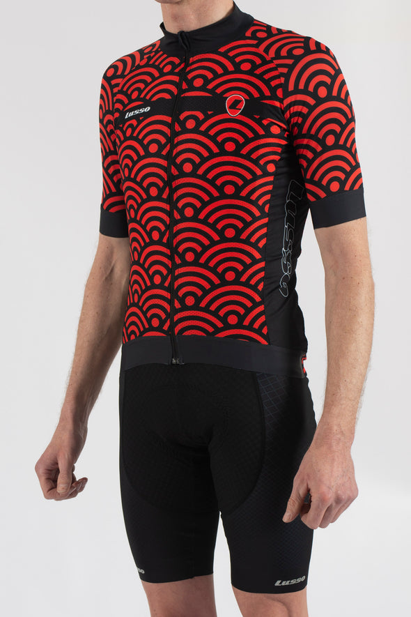 Hacienda Red Short Sleeve Jersey - Lusso Cycle Wear
