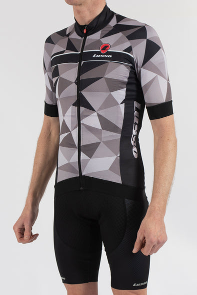 Shattered Grey Short Sleeve Jersey - Lusso Cycle Wear