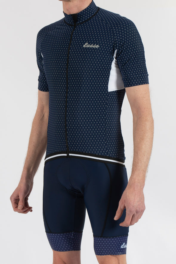 Energy Navy Short Sleeve Jersey - Lusso Cycle Wear
