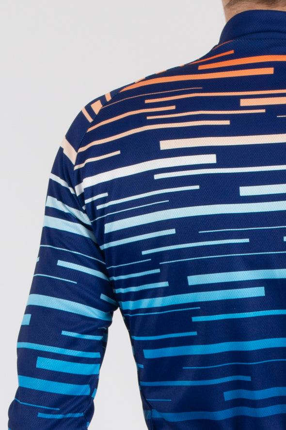 Dash Blue Long Sleeve Jersey - Lusso Cycle Wear