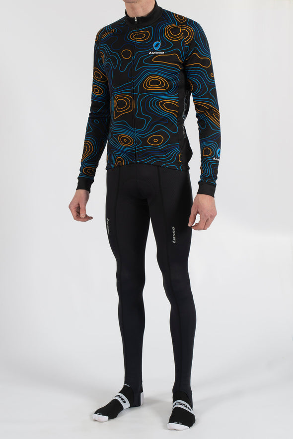 Terrain Black Long Sleeve Jersey - Lusso Cycle Wear