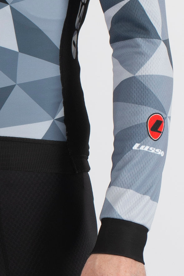 Shattered Black Long Sleeve Jersey - Lusso Cycle Wear