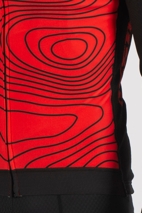 Terrain Red Long Sleeve Jersey - Lusso Cycle Wear