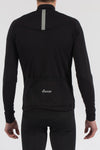 Merino Black Long Sleeve Jersey - Lusso Cycle Wear