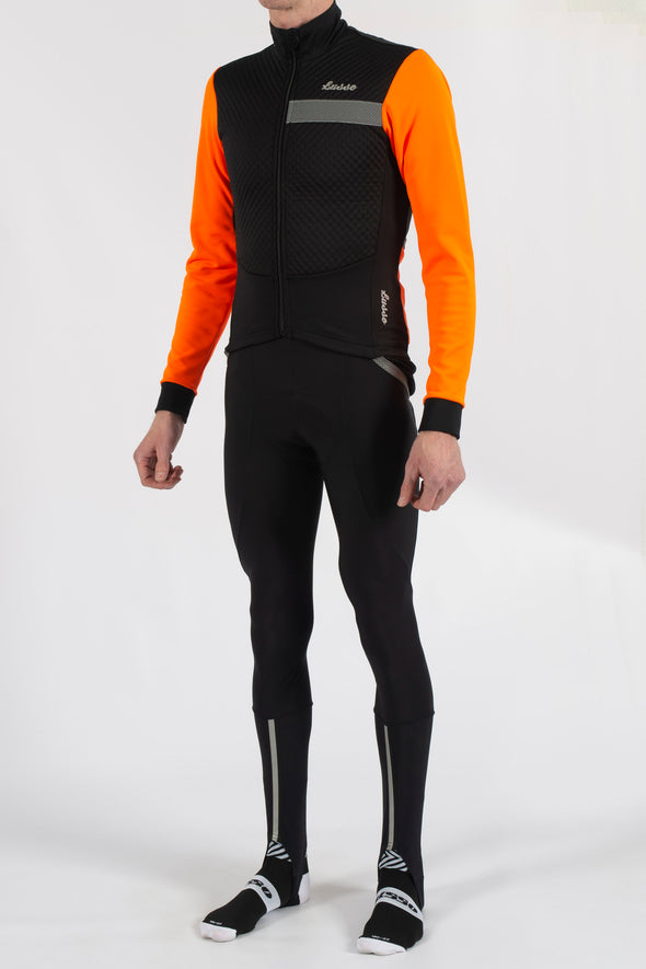 Aqua Pro Extreme Jacket - Orange - Lusso Cycle Wear