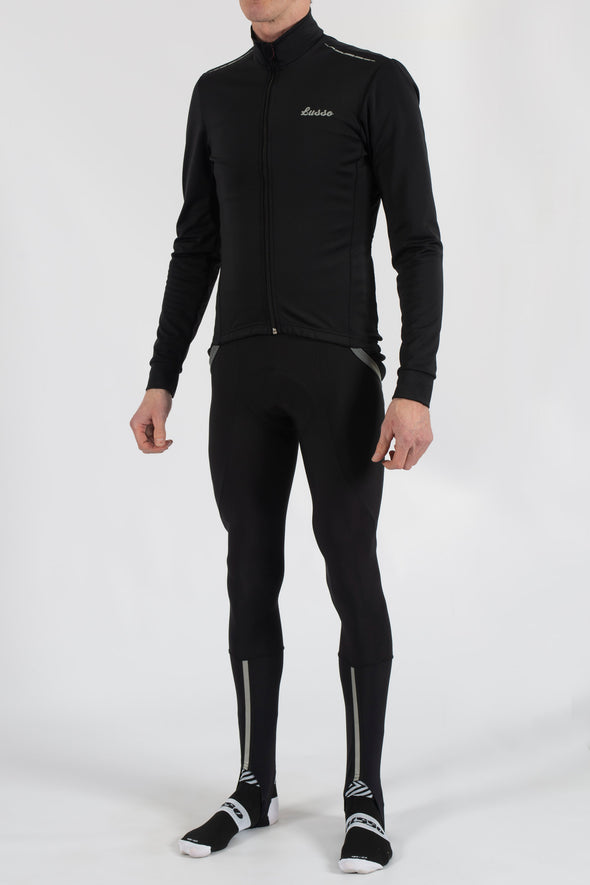 Aqua Repel v2 Black Jacket - Lusso Cycle Wear