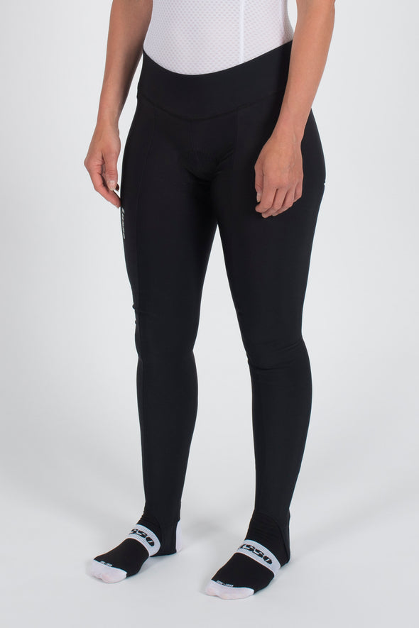 Thermal Tights - With Foot Loop - Womens - Lusso Cycle Wear
