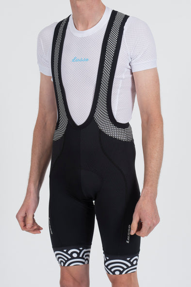 Hacienda Bibshorts Black & White - Lusso Cycle Wear