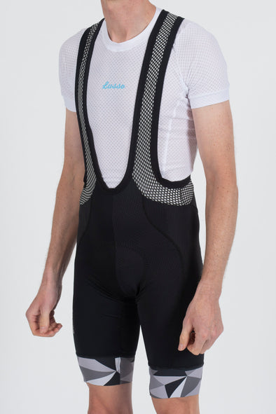 Shattered Black Bibshorts - Lusso Cycle Wear