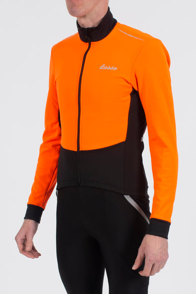 Aqua Extreme V2 Jacket - Orange - Lusso Cycle Wear