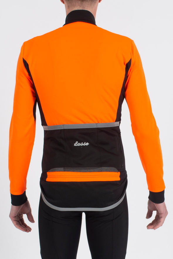 Aqua Extreme Jacket V2 - Orange - Lusso Cycle Wear