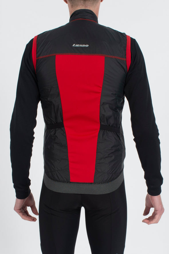 Skylon Gillet Black/Red - Lusso Cycle Wear