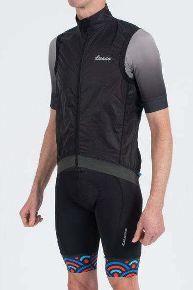 Skylon Gillet Black/Blue - Lusso Cycle Wear