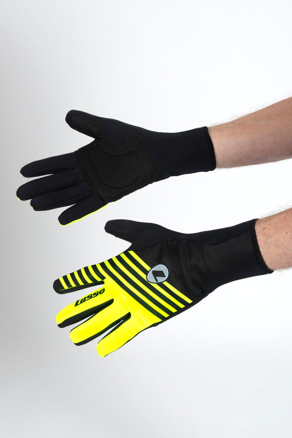 Windtex Thermal Vision Gloves Black/Yellow - Lusso Cycle Wear
