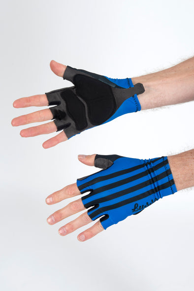 Classic Blue Summer Gloves - Lusso Cycle Wear