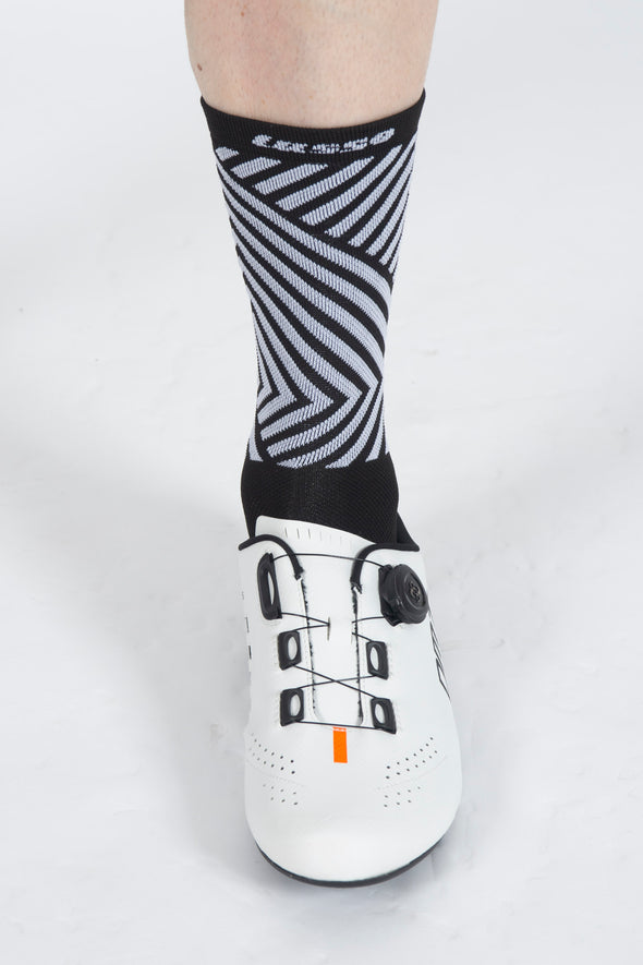 SoftAir Socks Black/White - Lusso Cycle Wear