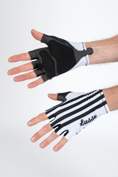 Classic White Summer Gloves - Lusso Cycle Wear