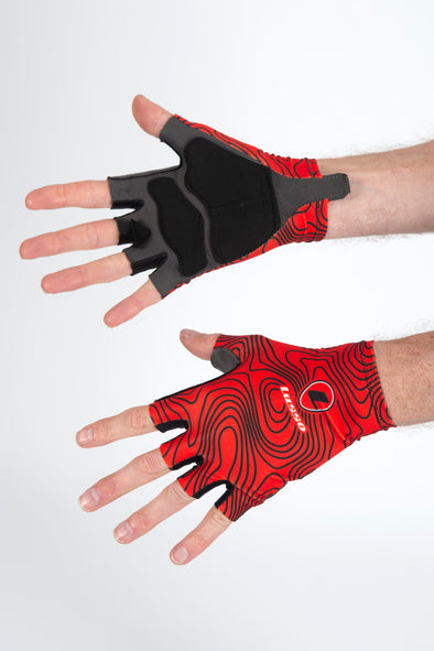 Terrain Red Summer Gloves - Lusso Cycle Wear