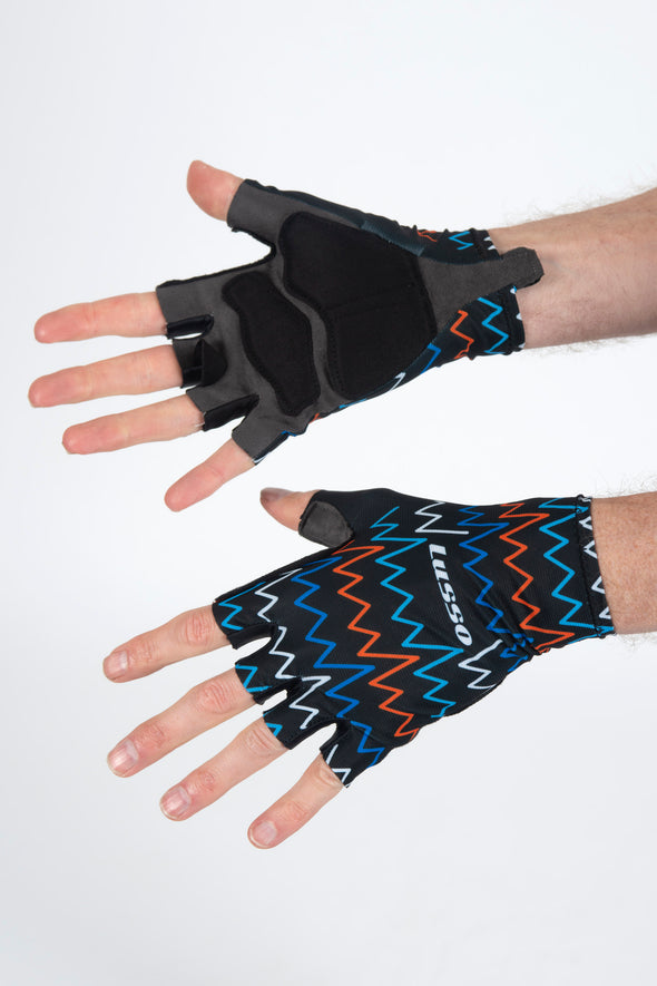 Zig Zag Multi Summer Gloves - Lusso Cycle Wear